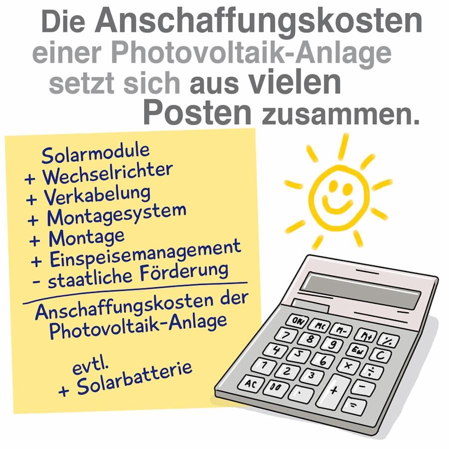 Anschaffungskosten einer Photovoltaik-Anlage