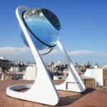 Runde Zitronen zur Stromerzeugung statt flacher Photovoltaik-Panels