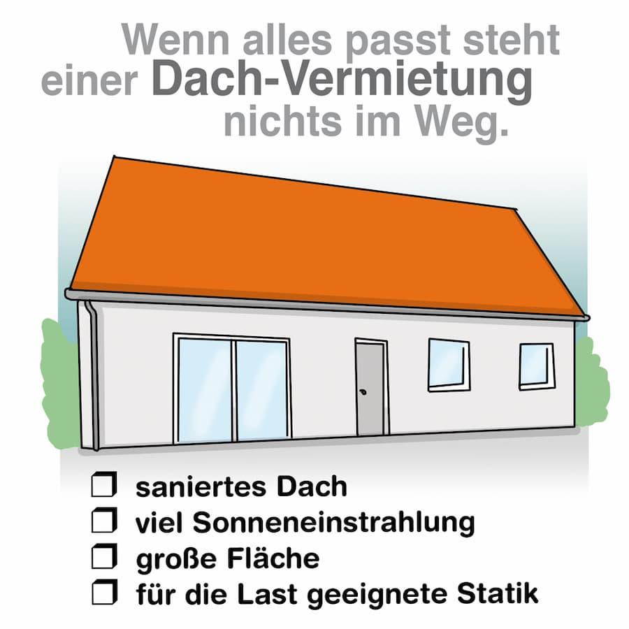 Dachfläche vermieten: Die Voraussetzungen müssen stimmen