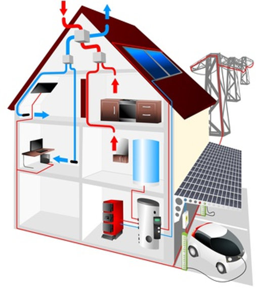 Haus Schema mit erneuerbare Energien © dreampicture, fotolia.com