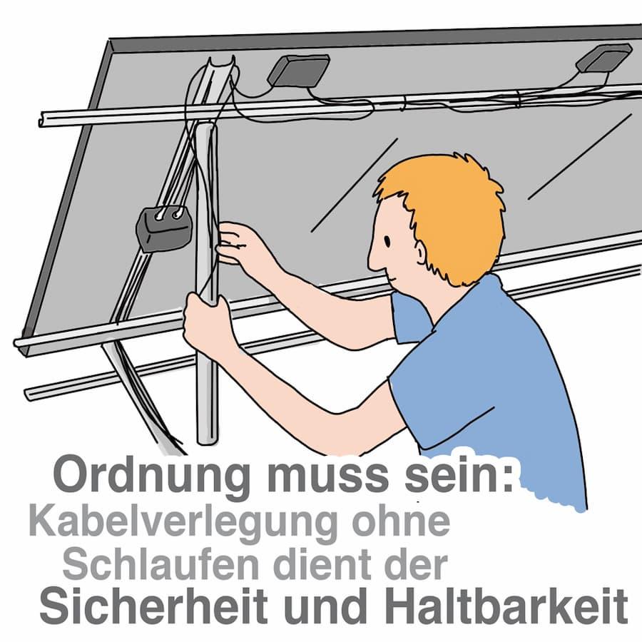 Ordnung muss sein: Kabelführung muss sauber ausgeführt sein