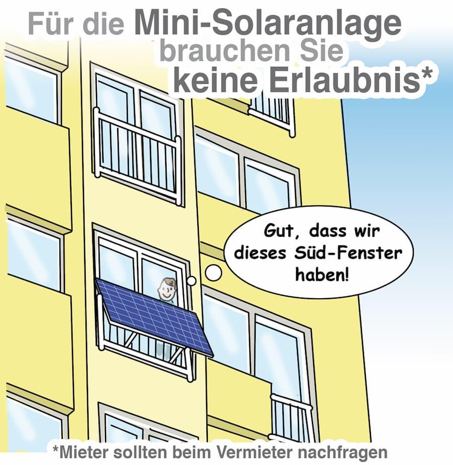 Eine Mini Solaranlage ist schnell installiert