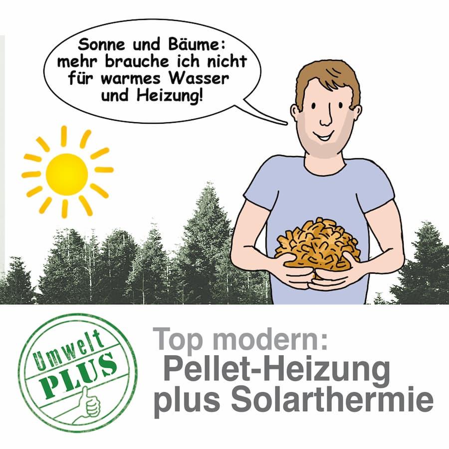 Pelletheizung und Solarthermie kombinieren: Die Umwelt freut sich