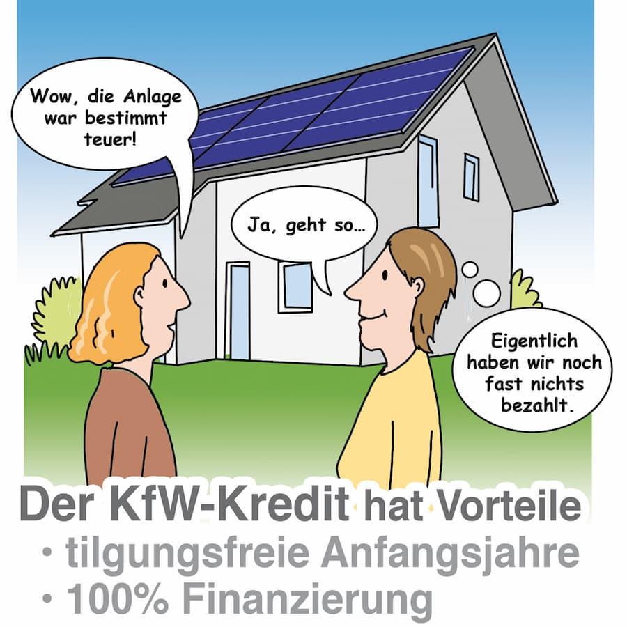 Die KfW fördert Photovoltaikanlagen