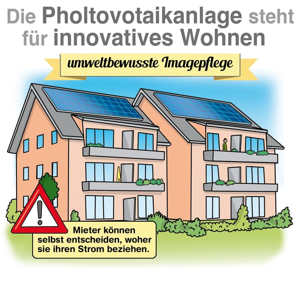 Beliebt bei Mietern: Die PV-Anlage auf dem Dach