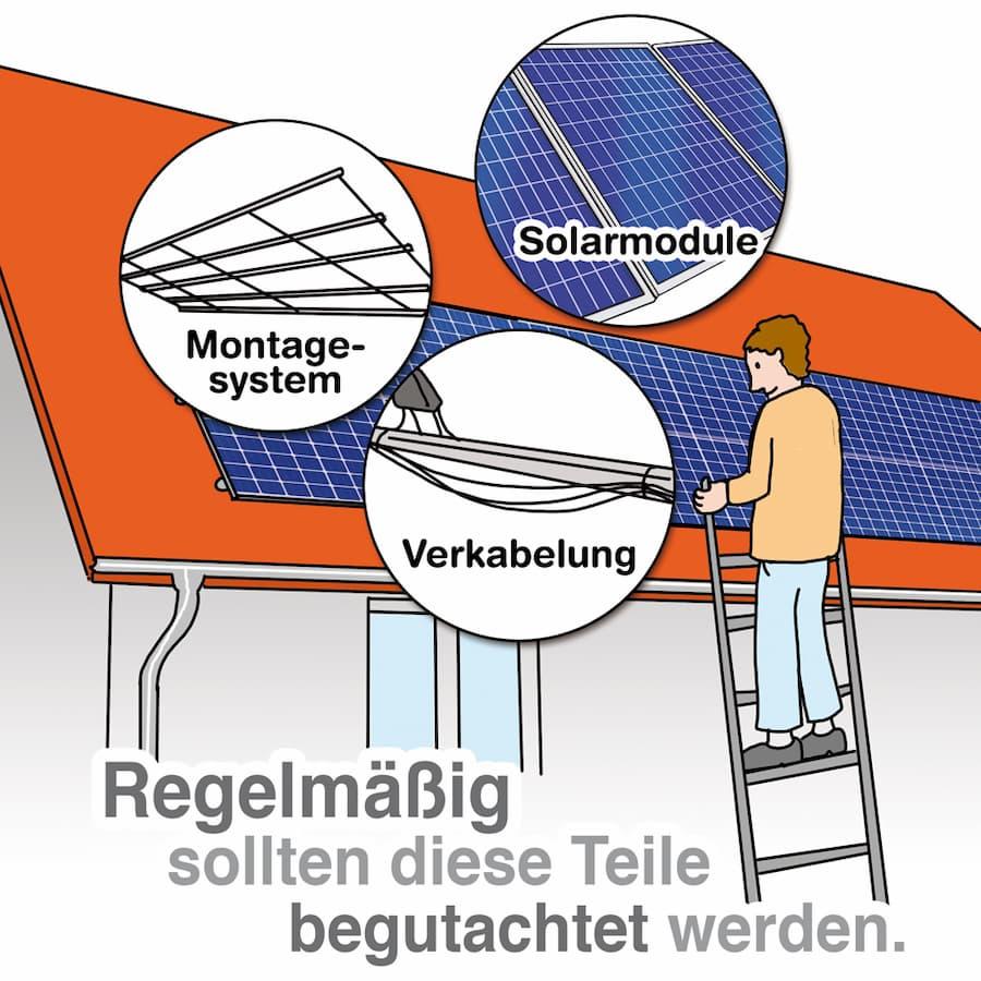 Photovoltaikanlage: Regelmässige Wartung ist sinnvoll