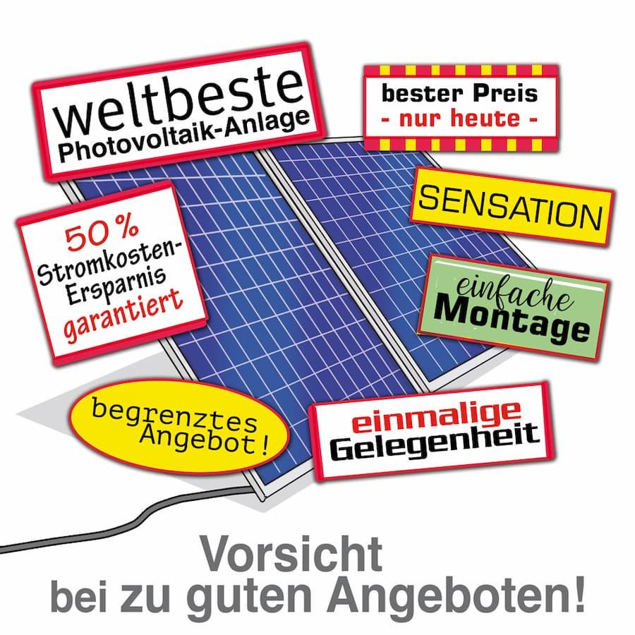 Photovoltaik: Angebote kritisch prüfen