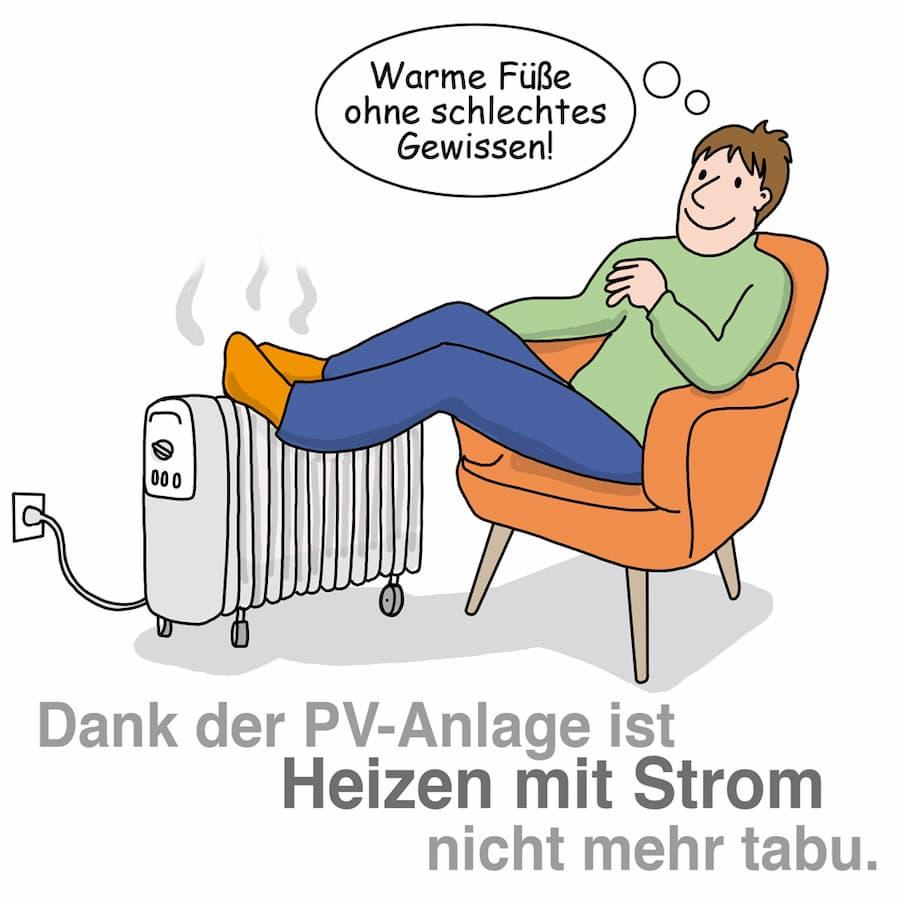 Heizen mit Strom: Dank Solarstrom nicht mehr tabu