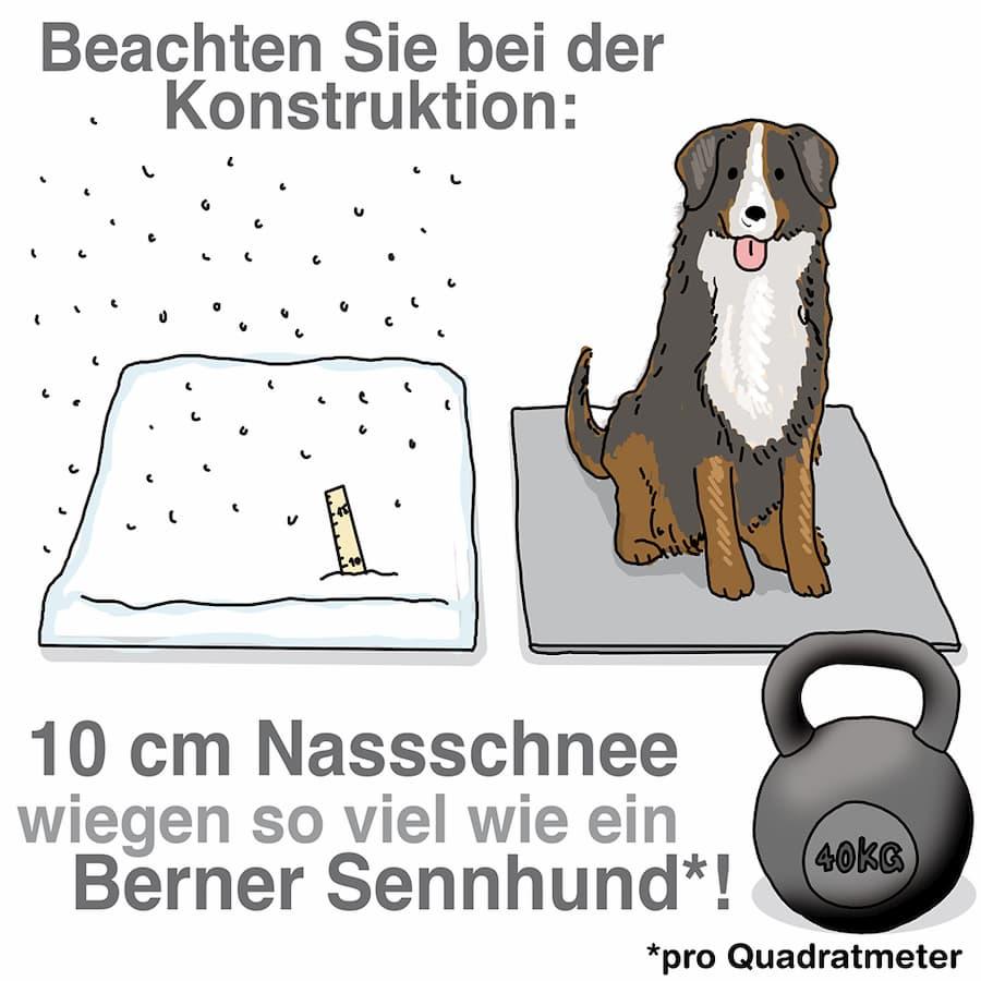 Schnee wiegt mehr als man gewöhnlich denkt