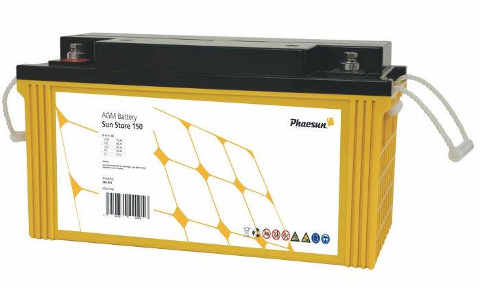 Bleispeicher für Solarenergie © phaesun