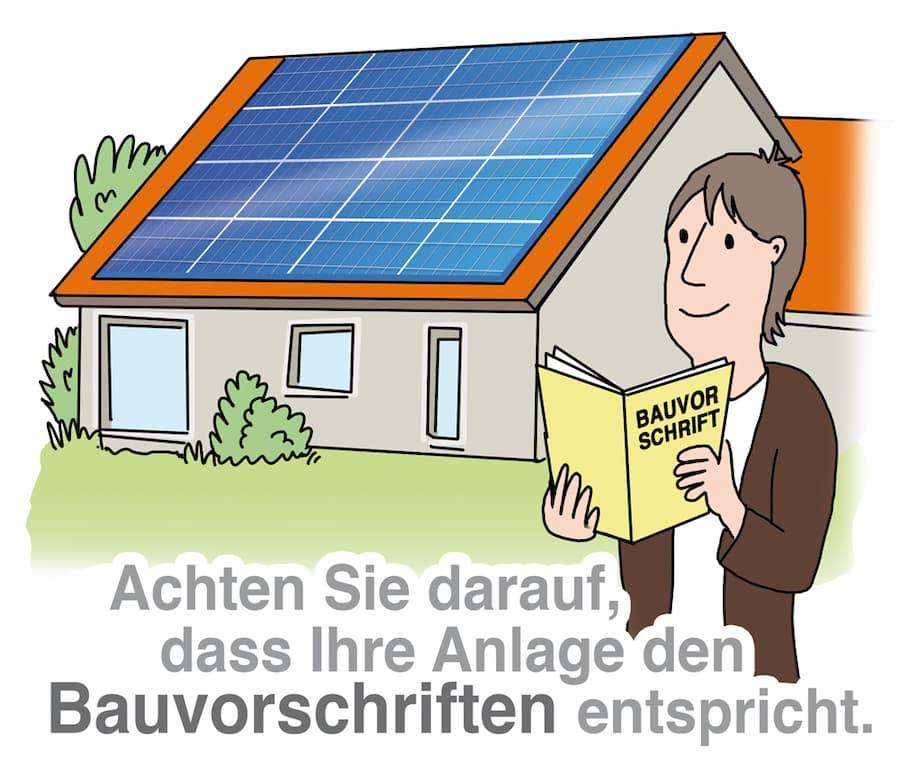 Solaranlage: Regionale Bauvorschriften beachten