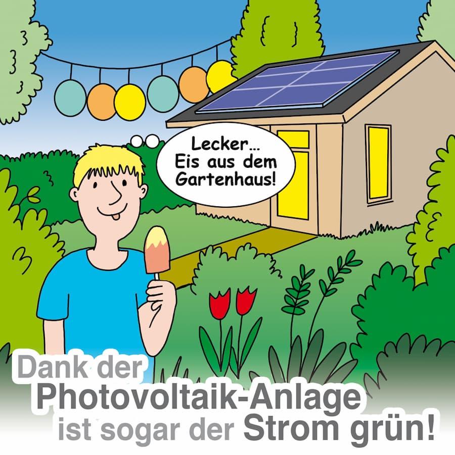 Solaranlage im Garten: Sogar der Strom wird grün