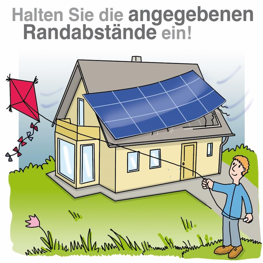 Solaranlage: Randabstand sollten eingehalten werden