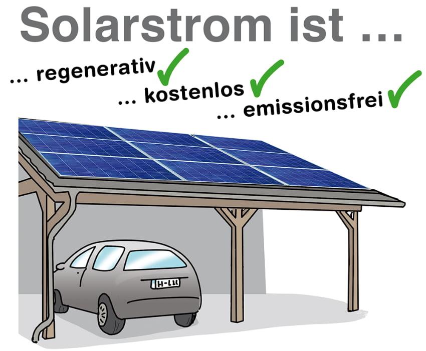 Vorteile eines Solarcarports