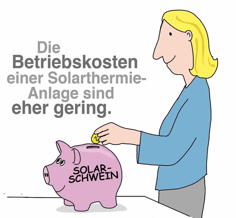 Die Betriebskosten einer Solarthermie-Anlage sind überschaubar