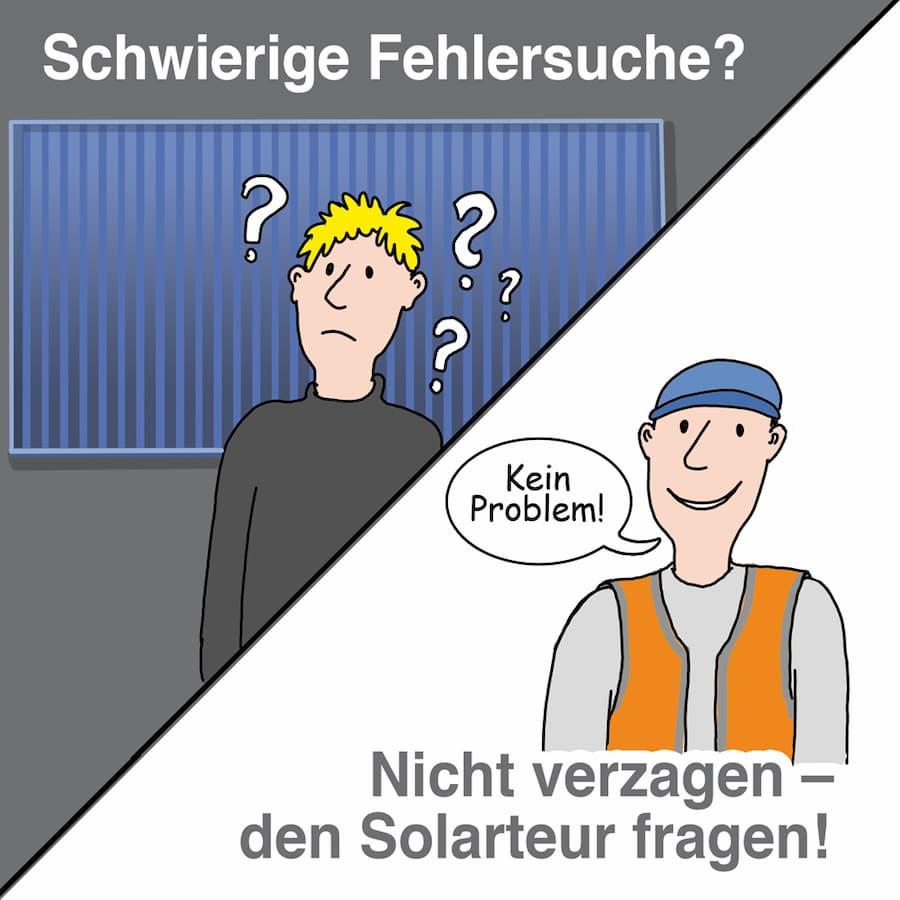 Solarthermieanlage: Bei schwieriger Fehlersuche rat beim Fachmann holen