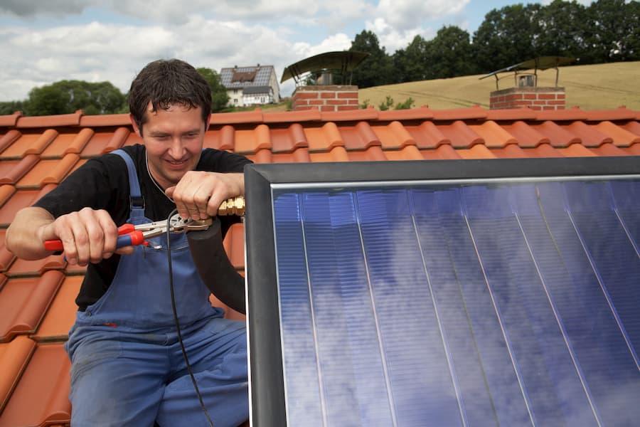 Solarthermie Montage