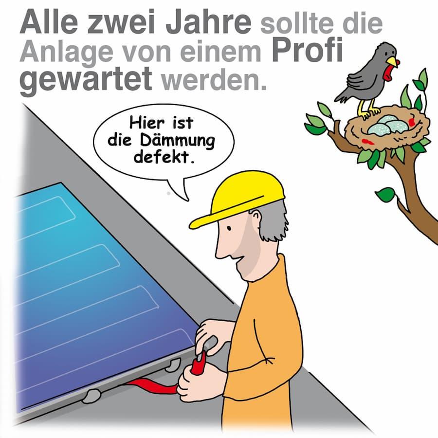 Solarthermie Wartungsintervall: Am besten alle zwei Jahre die Anlage überprüfen (lassen)