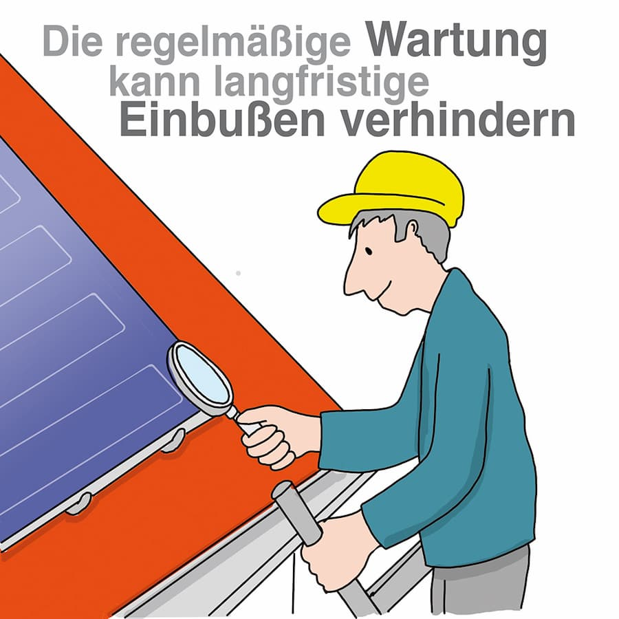 Solarthermie-Anlagen: Eine regelmäßige Wartung ist sinnvoll